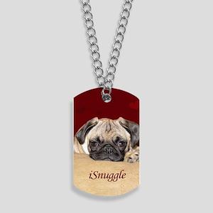 Adorable iSnuggle Pug Puppy Dog Tags