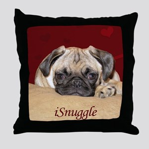 Adorable iSnuggle Pug Puppy Throw Pillow