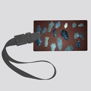 Collection of Indian Arrowheads Large Luggage Tag