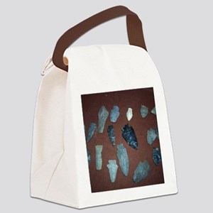 Collection of Indian Arrowheads Canvas Lunch Bag