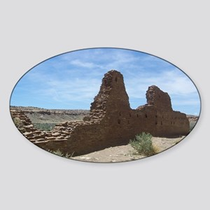 Chaco Canyon Indian Ruin Site Sticker (Oval)