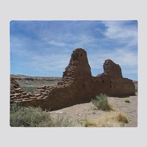 Chaco Canyon Indian Ruin Site Throw Blanket