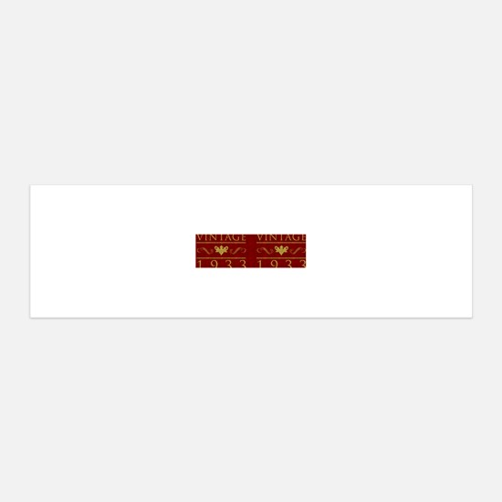 Vintage 1933 (Red) Wall Decal