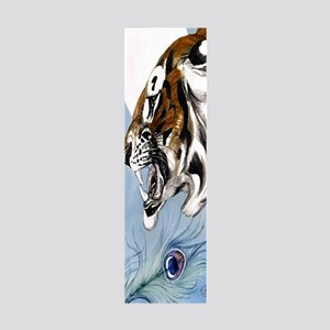 OM Tiger Moonlight Peacock Feathe 36x11 Wall Decal