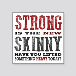"""Strong is the New Skinny: H Square Sticker 3"""" x 3"""""""