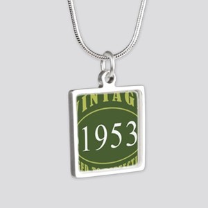Vintage 1953 (Green) Silver Square Necklace