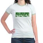 Green Thrust Women's Ringer