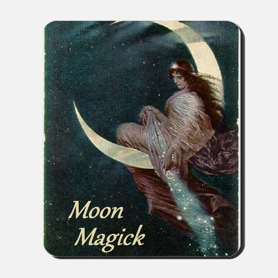 The Fairy of the Moon by Hermann Kaulbac Mousepad