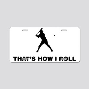 Baseball-Batter-12-A Aluminum License Plate