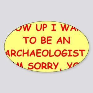 archaeology Sticker (Oval)