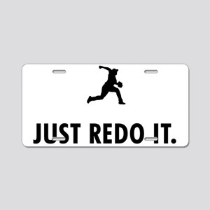 Baseball-Pitcher-05-A Aluminum License Plate