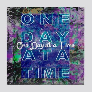 One Day at a Time Art Tile Coaster