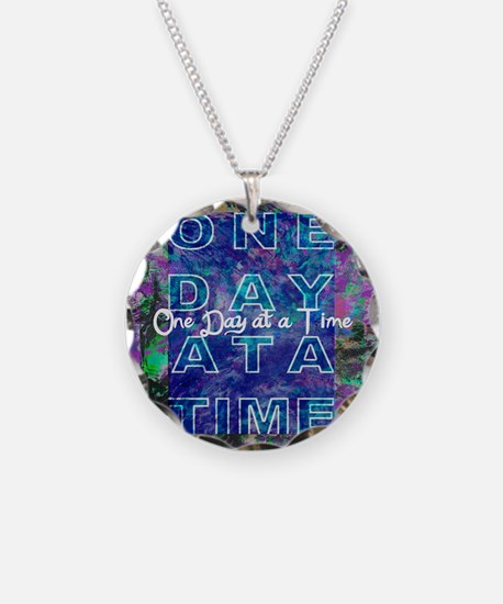 One Day at a Time Art Necklace