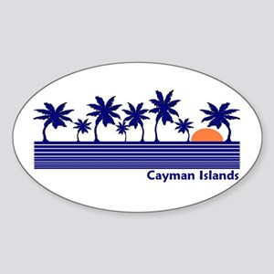 Cayman Islands Oval Sticker