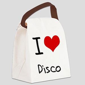 I Love Disco Canvas Lunch Bag