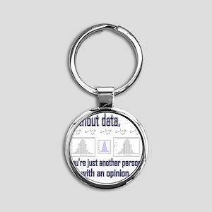 without data Round Keychain