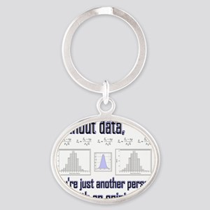 without data Oval Keychain