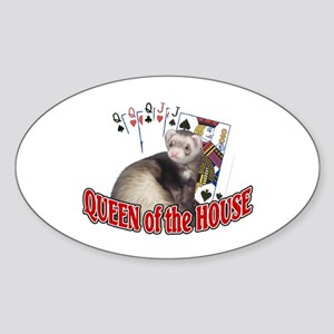 QUEEN of the HOUSE Oval Sticker