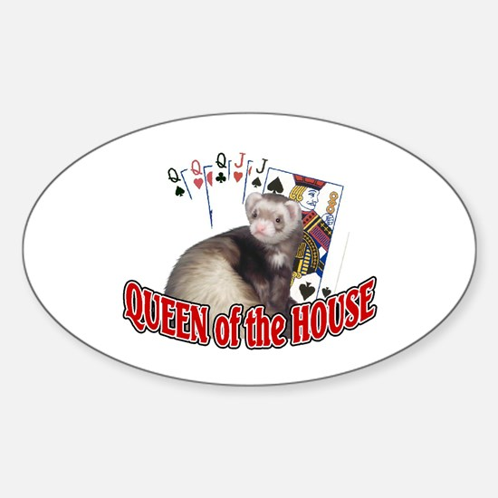 QUEEN of the HOUSE Oval Decal