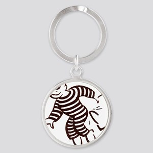 get out of jail now Round Keychain