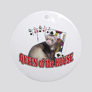 QUEEN of the HOUSE Ornament (Round)