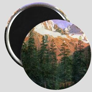 Albert Bierstadt Canadian Rockies Magnet