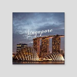 "Singapore_6x6_GardensByTheB Square Sticker 3"" x 3"""