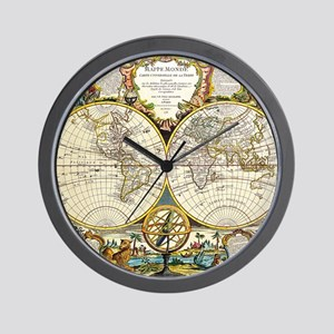 Ancient world map wall clocks cafepress world map 1755 wall clock gumiabroncs Gallery