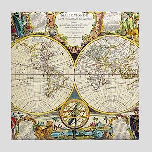 World Map 1755 Tile Coaster