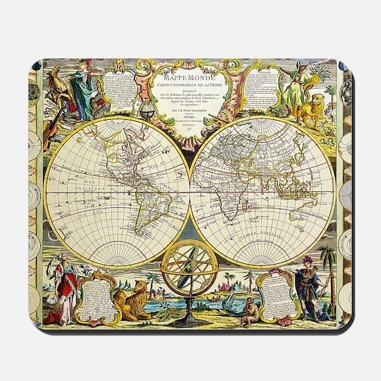 World Map 1755 Mousepad