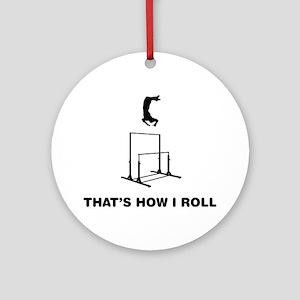 Gymnastic---Uneven-Bar-01-12-A Round Ornament