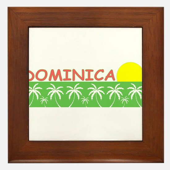 Dominica Framed Tile