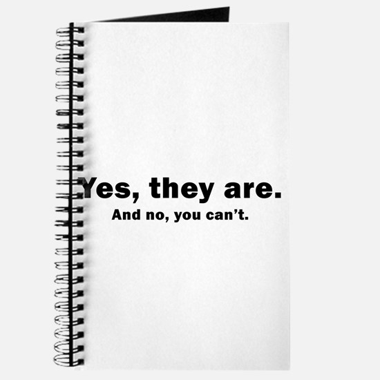 yes they are, and no you can' Journal