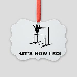 Gymnastic---Uneven-Bar-02-12-A Picture Ornament