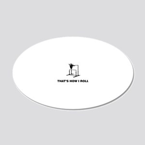 Gymnastic---Uneven-Bar-02-12 20x12 Oval Wall Decal