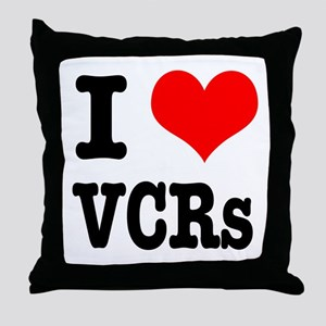 I Heart (Love) VCRs Throw Pillow