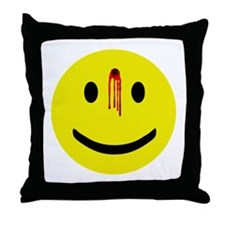 Dead Smiley Throw Pillow