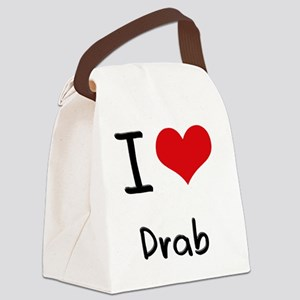 I Love Drab Canvas Lunch Bag