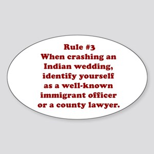Rule #3 Oval Sticker
