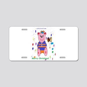 Merry Christmas and Art Aluminum License Plate
