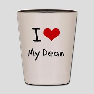 I Love My Dean Shot Glass