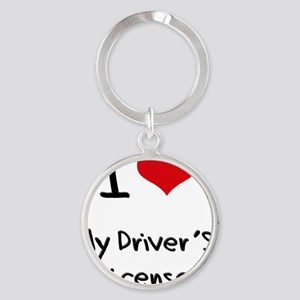 I Love My Driver's License Round Keychain