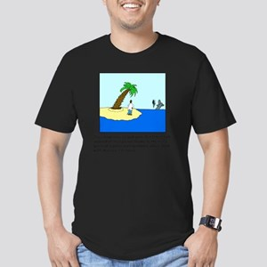 Desert Island Joke (TS Men's Fitted T-Shirt (dark)
