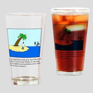 Desert Island Joke (TS-C) Drinking Glass