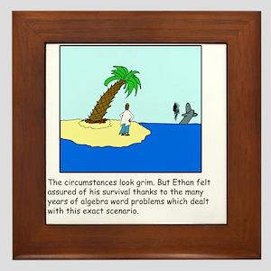Desert Island Joke (TS-C) Framed Tile
