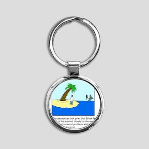 Desert Island Joke (TS-C) Round Keychain