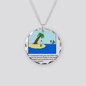 Desert Island Joke (TS-C) Necklace Circle Charm