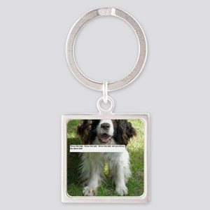Throw the Ball English Springer Sp Square Keychain