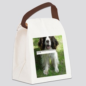 Throw the Ball English Springer S Canvas Lunch Bag