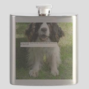 Throw the Ball English Springer Spaniel Dog Flask